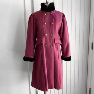 Vintage Rothschild Wool Fur Collar Coat